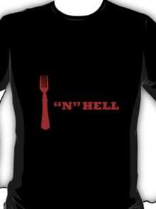 """Fork """"N"""" HELL red T-Shirt"""
