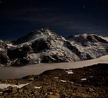 Mt Sefton by Moonlight by Tannachy