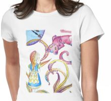 Meet the cheshire cat Womens Fitted T-Shirt