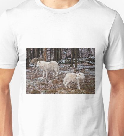 Arctic Wolves In The Woods Unisex T-Shirt