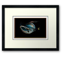 """""""Lead Goose Flying  In The V Formation...Calling For A Lead Change"""" Framed Print"""