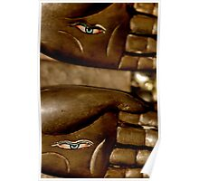 hands. mcleod ganj, northern india Poster