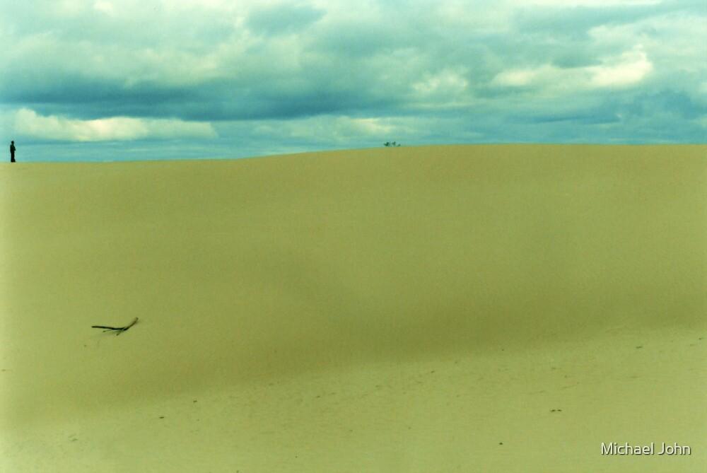 Motionless Man at Mungo by Michael John