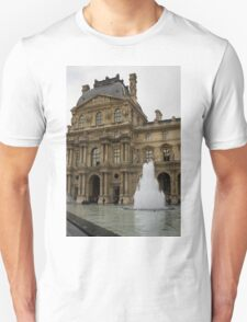 Of Pale Pastels and Palaces - the Louvre Courtyard in Paris T-Shirt