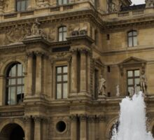 Of Pale Pastels and Palaces - the Louvre Courtyard in Paris Sticker