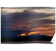 Glowing Canberra Sky Poster