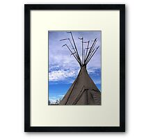 CANVAS TEEPEE AT FT VASQUEZ Framed Print