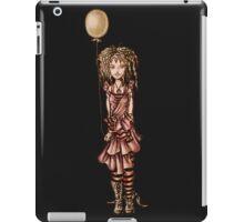 Cute Punk Cartoon of Girl Holding Green Balloon  iPad Case/Skin
