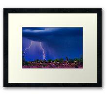 Desert Purple Storm Framed Print