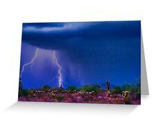 Desert Purple Storm Greeting Card