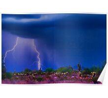 Desert Purple Storm Poster
