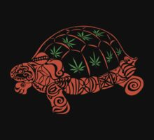 Turtle with Marijuana Leaves by NataliSven