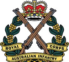 Royal Australian Infantry Corps Color Badge by RARMascotsAus