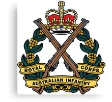 Royal Australian Infantry Corps Color Badge Canvas Print