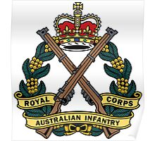 Royal Australian Infantry Corps Color Badge Poster