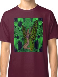 Green Mad Butterfly Woman Classic T-Shirt
