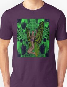 Green Mad Butterfly Woman T-Shirt
