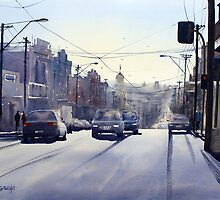 Early Morning Bridge Street, Melbourne by Joe Cartwright