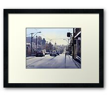 Early Morning Bridge Street, Melbourne Framed Print