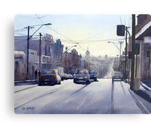 Early Morning Bridge Street, Melbourne Metal Print