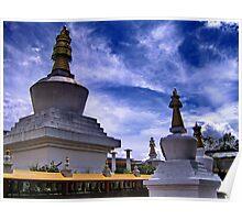 stupas. gangtok, sikkim Poster