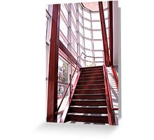 Red Staircase Greeting Card