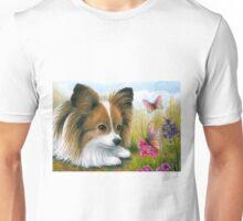 Dog 123 Papillon with Butterflies Unisex T-Shirt