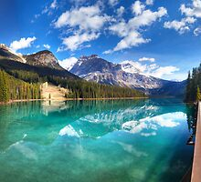 Emerald Lake panorama. Yoho national park, Canada by Andrey Popov