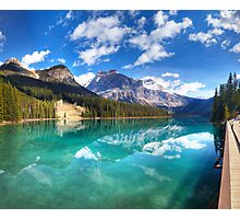 Emerald Lake panorama. Yoho national park, Canada Photographic Print