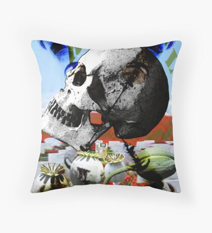 The War for Drugs Throw Pillow