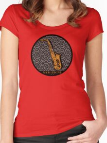 SAXOPHONE SWING Women's Fitted Scoop T-Shirt
