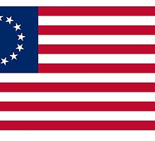 Betsy Ross flag, American Revolution, Stars and Stripes, Star Spangled Banner, America, American, USA, Americana by TOM HILL - Designer