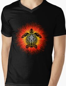 Turtle and the Sun Mens V-Neck T-Shirt