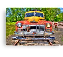 Ride the Rails in a Dodge Canvas Print
