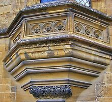 Sculptured Window, Sherborne (detail) by lezvee