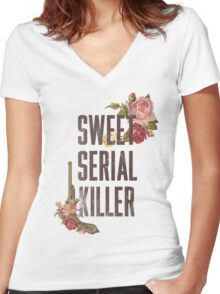 Serial Killer Women's Fitted V-Neck T-Shirt