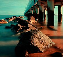 Port Melbourne Pier by Angie Muccillo