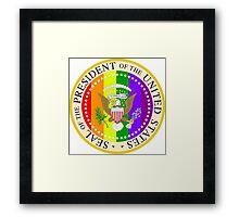 The GAY Presidential Seal Framed Print
