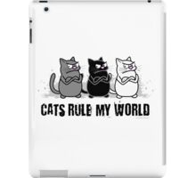 Cats Rule My World iPad Case/Skin