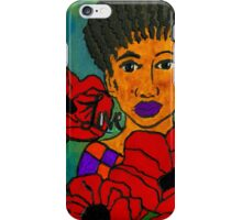 She Loves Poppies iPhone Case/Skin