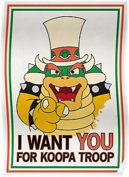 Bowser Wants You by FlamingDerps