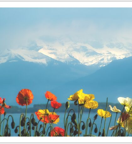 Swiss Flowers Sticker