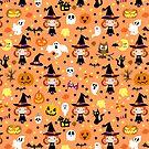 Kawaii Halloween Pattern by SaradaBoru