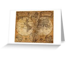 World Map 1736 Greeting Card