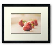 strawberry... Framed Print