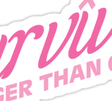 Pink Survivor Sticker