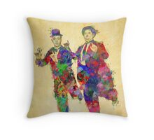 Stan Laurel and Oliver Hardy Throw Pillow