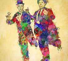 Stan Laurel and Oliver Hardy by Sol Noir Studios