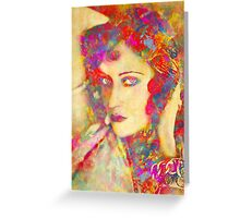Gloria Swanson Greeting Card