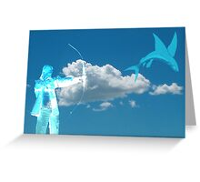 Fishing in the Sky Greeting Card